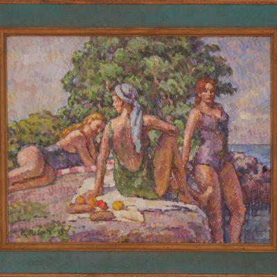 La chica del pañuelo | Óleo sobre lienzo | 38x30