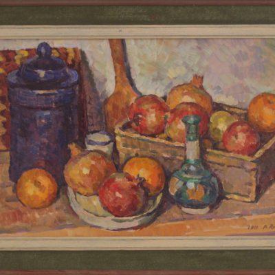 Cesta de fruta | Óleo sobre lienzo | 45x30