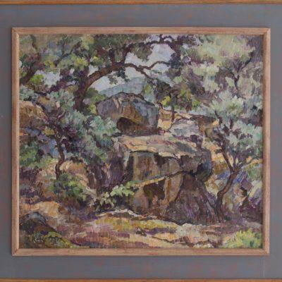 Bosque mediterráneo en Grazalema | Óleo sobre lienzo | 50x45