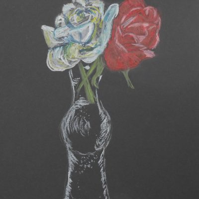 Botellita con rosas | 21x15