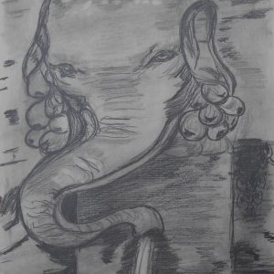 Fontana dell'Elefante. Villa Madama. 29x21 cm. 85 e.