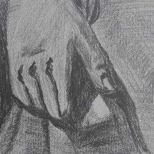 Mano de figura del Carmen de los Mártires. 15x21 cm. 75 e.