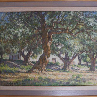 Cortijo en Órgiva | Óleo sobre lienzo | 50x37