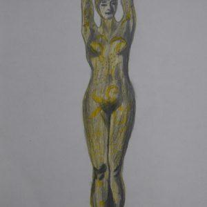 Recreación de la mujer pulpo de Chiparus 1. 29x21 cm. 50 e.