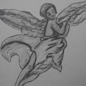 Relieve de ángel de la Catedral de Granada. 28x21 cm. 40 e.