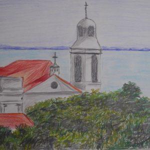 Vista desde el Mirador de Santa Lucía en Alfama | 21x29 (A4)