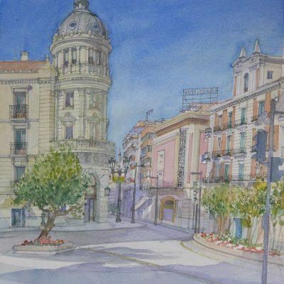 Antiguo Hotel Victoria en Puerta Real. Granada. | 57x41 | 1000 €