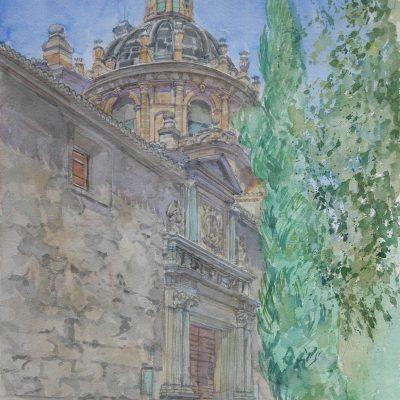 Vista lateral de San Justo y Pastor en Granada | 56x38 | 950€