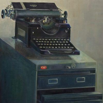La máquina de escribir. Maribel Porcel. 73x51 cm