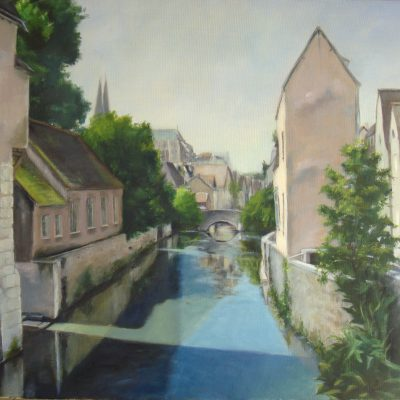 Canal de Chartres. Sacri Jiménez. 900 euros. 54x65 cm