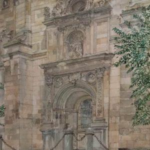 1. Puerta de San Jerónimo. Nobuo Ueda. Acuarela. 53x36 cm. 980 euros
