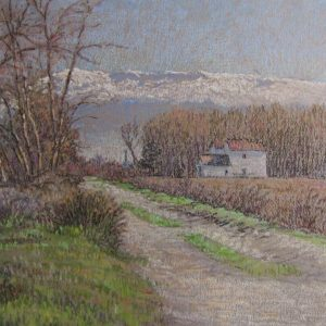 20. La sierra nevada. Paul Roberts. Pastel. 31x48 cm
