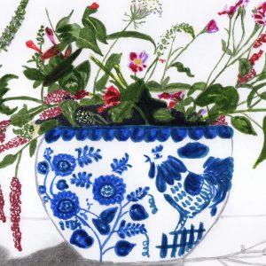 Las flores del jarrón ruso. Lara. 27x29 cm. 250 euros