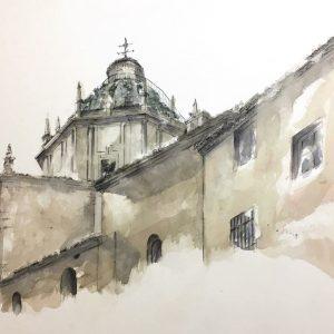 Cúpula de Santo Domingo. María Marsilio Martín. 60x80 cm. 450 euros