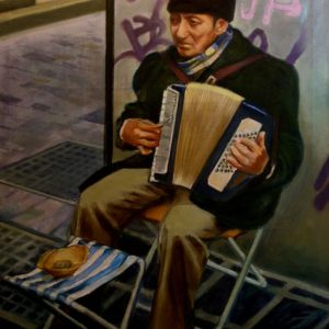 6. Músico callejero. Casimiro Casas. 116x89 cm. 1600 euros.